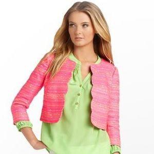 Lilly Pulitzer Wonda Jacket Neon Pink Metallic